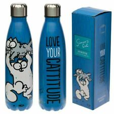SIMONS CAT CATTITUDE STAINLESS STEEL HOT AND COLD 500ML DRINKS BOTTLE FLASK NEW