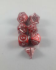 Floating Face Polyhedral 7-Die Set Red - Gaming Dice