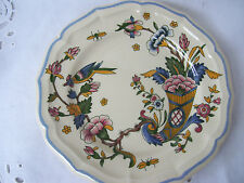 Vintage French Plates from Gien France, Gien Corne D'Abondance Salad Plates