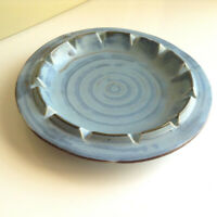 Royal Haeger Ashtray 183F Colonial Blue Stoneware Round Vintage Haeger Pottery