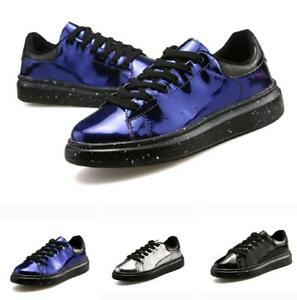 Mens Outdoor Walking Sports Shiny Casual Stylish Leisure Boards Sneakers Shoes D