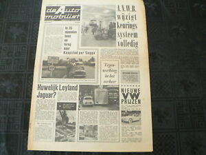 DE AUTO MOBILIST 1962 NO 31 GRONINGEN KAAPSTAD,LEYLAND JAGUAR,ANWB,R8 RENAULT