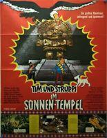 910853) Filmplakat DINA1, Tim und Struppi im Sonnentempel, Zeichentrick