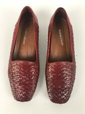 Naturalizer Womens Red Leather Flat Shoes Size 61/2W Made in Brazil NEW