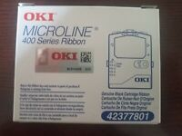 OKI Microline 400 Series Genuine Black Cartridge Ribbon 42377801