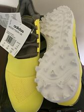 AdidasMens Divox 1.9S Hockey Shoes Field Yellow Breathable Trainers - Size 10