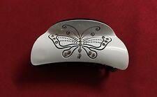 Elegant Rhinestone New White Acrylic Hair Claw Clip
