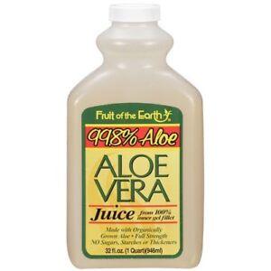 Fruit of the Earth Aloe Vera Juice, 32 oz (8 Pack)