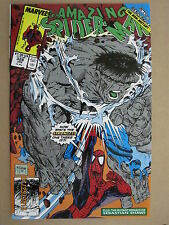 1990 MARVEL COMICS THE AMAZING SPIDER-MAN #328 LAST MCFARLANE COVER WITH HULK