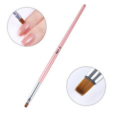 Painting Flat Brush Nail Art Powder Pen Nail Edge Cuticle Cleaning Pink Handle