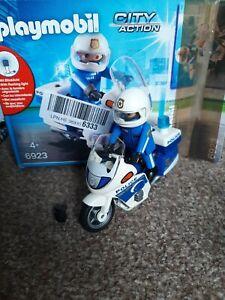 Playmobil Police Motorbike with Flashing Light - set 6923