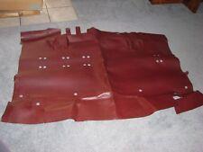 NEW NOS GENUINE GM 75-78 SUBURBAN UNDER CENTER W/ FLIP SEAT FLOOR MAT RED 349981