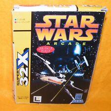 VINTAGE 1994 SEGA MEGA DRIVE SUPER 32X STAR WARS ARCADE VIDEO GAME BOXED JAPAN