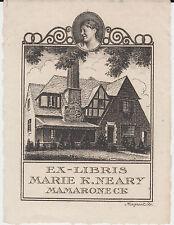 § EX-LIBRIS MARIE K. NEARY - MAMARONECK - ÉTATS-UNIS  (gravé par Maquet, Paris)§