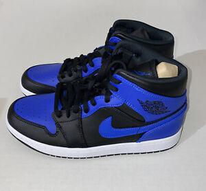 NEW 2020 Nike Air Jordan 1 Mid Hyper Royal Men's US 10 554724-077