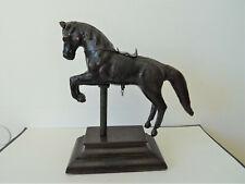 Altes Pferd Horse aus Leder auf Holzsockel Krippe Kinderspielzeug ?  XXL