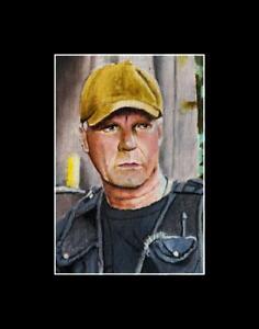 Jack O'Neill Stargate SG1 ACEO Art miniature portrait Sketch Card painting