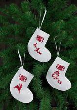 Reindeer Stocking Ornaments (White) Kit #01-4270 - Permin of Copenhagen Kit New