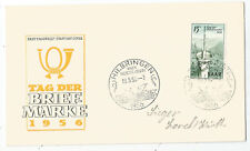Saarland, Saar, FDC, Mi. Nr. 369, Tag der Briefmarke 1956, Erstagsbrief