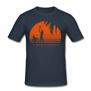 Beach Volleyball Männer Slim Fit T-Shirt
