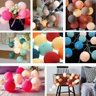 2.2m 20 LED Waterproof Cotton Ball Fairy String Lights Christmas Wedding Outdoor