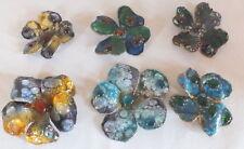 émaux de Limoges 6 fleurs style Camille Faure