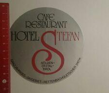 Aufkleber/Sticker: Hotel Stefan Sölden Ötztal Tirol (221216146)