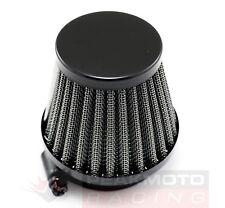 Satin Black 42mm Motorcycle Air Filter Pod Style CB650 Z1 KZ1000 RD350 RD400