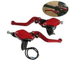 Pair CNC Motorcycle Hydraulic Brake Master Cylinder&Clutch Lever 22mm Universal