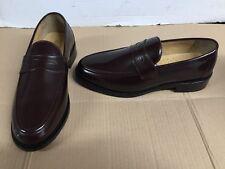 Samuel Windsor Classic Handmade Mens brown Leather Shoes slip on uk 8.5