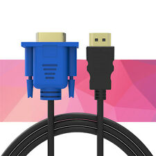 5M 16FT HDMI to VGA Cable Gold Plated 1080P Adapter Converter For HD player