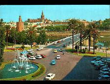 SEVILLA (ESPAGNE) CITROEN 2CV ,AMI 8 & RENAULT R8 , PLACE de CUBA en 1983