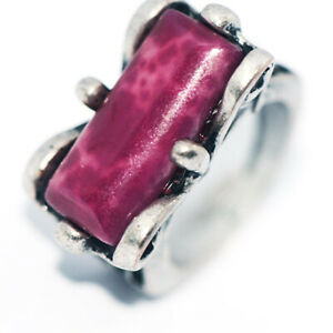 Vintage Antique 925 Silver Red Natural Stone Ring Jewelry Ring For Womens Size 9
