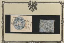 Preussen V. / HERINGEN je Ra2 auf Briefstück 17a + auf NDP 17, Pracht-feinst