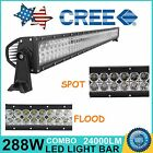 50inch 288W CREE LED Work Light Bar Spot Flood Combo Off-road SUV UTE Jeep Lamp