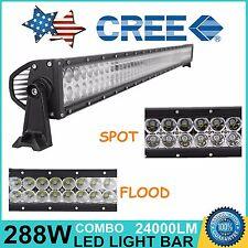 "50"" 288W CREE FLOOD SPOT COMBO LED WORK LIGHT BAR DRIVING OFF-ROAD LAMP 12V 24V"