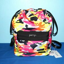 Kendall +Kylie  Multi-Color Camouflage Backpack Polyester Drawstring $30.-NWT FS