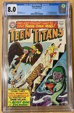 Teen Titans #1 Premiere CGC 8.0 DC 1966 Batman! Flash! ow/white pages JLA!