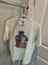 Uniqlo x Sesame Street Companion Trash Can Tee T-shirt White Small