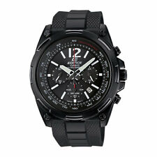 Casio Edifice Men's EFR 545SBPB-1B Tough Solar Tachy meter Black Resin Watch