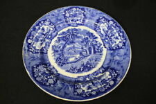 "19th Century Petrus Regout & Co ORIENTAL BLUE Transferware 9"" Plate, Maastricht"