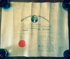 Vintage Antique BS Civil Engineer Degree/ Diploma- 1902- Lehigh University, PA
