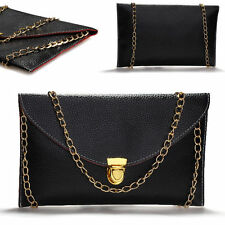 Women Envelope Clutch Evening Shoulder Handbag Bag with Chain+blackhead remover