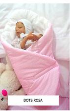 H&D BABY HÖRNCHEN Dots pink weiss Babynest Schlafsack Steckkissen Baumwolle NEU