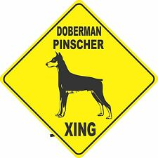 "15.5"" x 15.5"" plastic Doberman Pinscher sign xing Crossings animal dog"