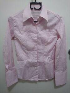 Rhodes And Becket Sz 4 Shirt  pink and white