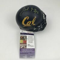 Autographed/Signed JARED GOFF Cal California College Mini Helmet JSA COA Auto