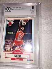 1990-91 Fleer Michael Jordan Card # 26 BCCG Graded 8 Excellent or Better