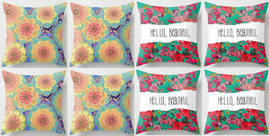 8PCS 18'' Colorful Floral Super Soft Cotton Cushion Pillow Cover Clearance price