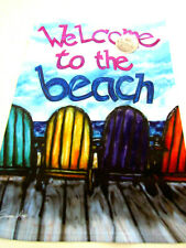 "Welcome To The Beach Garden Flag Mini Banner Size 12.5"" x 18"" Patio Porch Gift"